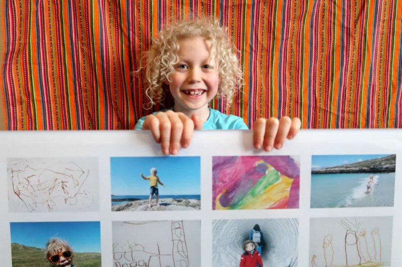 Turn Kids Art into Wall Art (and More!)