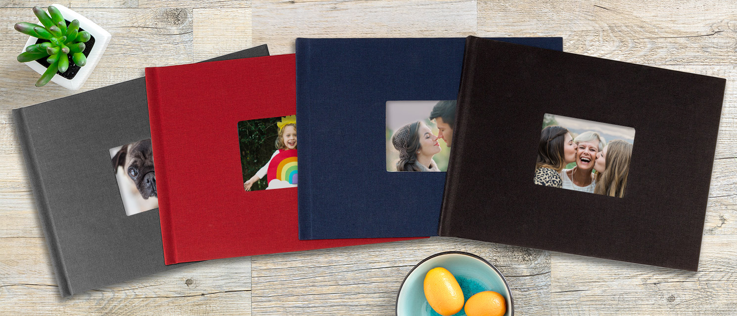 A4 Landscape Window Linen Book Personalised Photo Books Photo Books Snapfish Ie